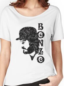 DISTRESSED BLACK BONZO Women's Relaxed Fit T-Shirt