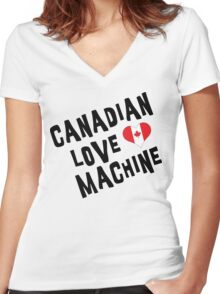 Canadian Love Machine T-Shirt Women's Fitted V-Neck T-Shirt