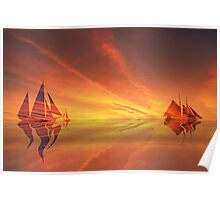 Sailing on red Sea Poster