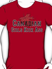 Canada Canadian Girls Kick Ass Women's T-Shirt T-Shirt