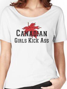 Canada Canadian Girls Kick Ass Women's T-Shirt Women's Relaxed Fit T-Shirt