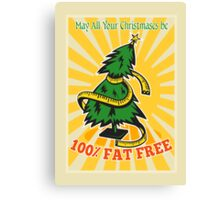 Fat Free Christmas Tree Tape Measure Canvas Print