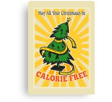 Calorie Free Christmas Tree Tape Measure Canvas Print