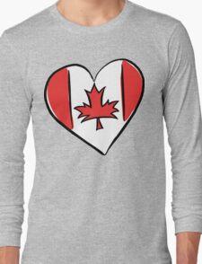 Love Canada T-Shirt Long Sleeve T-Shirt