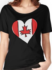 Love Canada T-Shirt Women's Relaxed Fit T-Shirt
