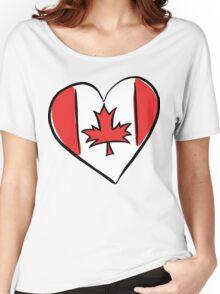 Love Canada T-Shirt Women's Relaxed Fit T-Shirt