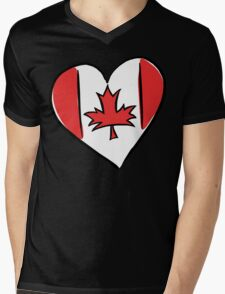 Love Canada T-Shirt Mens V-Neck T-Shirt