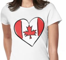 Love Canada T-Shirt Womens Fitted T-Shirt