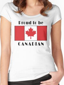 Canada Proud To Be Canadian T-Shirt Women's Fitted Scoop T-Shirt