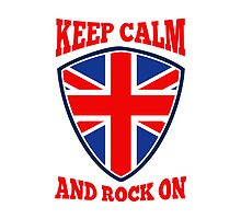 Keep Calm Rock On British Flag by patrimonio
