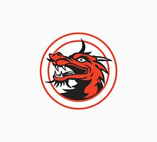 Red Chinese Dragon Head Circle Unisex T-Shirt