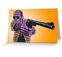 Hunter S. Thompson Cast Culture Cloth Zinc Collection Greeting Card