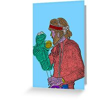 Jim Henson Kermit the Frog Culture Cloth Zinc Collection Greeting Card