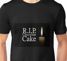 candle and rip chocolate cake Unisex T-Shirt