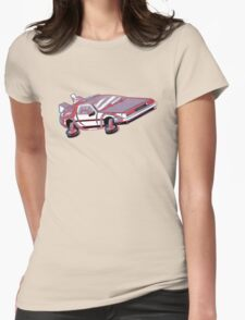 3-Delorean Womens Fitted T-Shirt