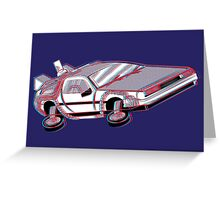3-Delorean Greeting Card