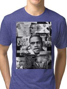 malcom x Tri-blend T-Shirt