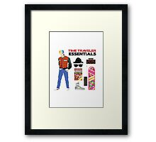 Back to the Future : Time Traveler Essentials 2015 Framed Print