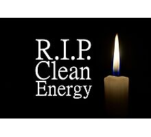 rip clean energy typo candle Photographic Print