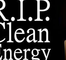 rip clean energy typo candle Sticker