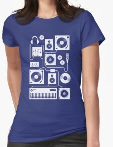 Four To The Floor - Teal Womens Fitted T-Shirt