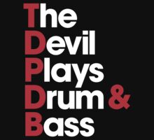 The Devil Plays Drum & Bass Kids Tee