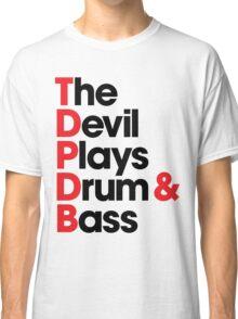 The Devil Plays Drum & Bass (black) Classic T-Shirt