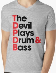 The Devil Plays Drum & Bass (black) Mens V-Neck T-Shirt