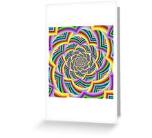 Colorful Curved Chevron Spiral Greeting Card