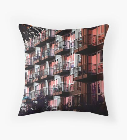 Apartment Life in the City Throw Pillow