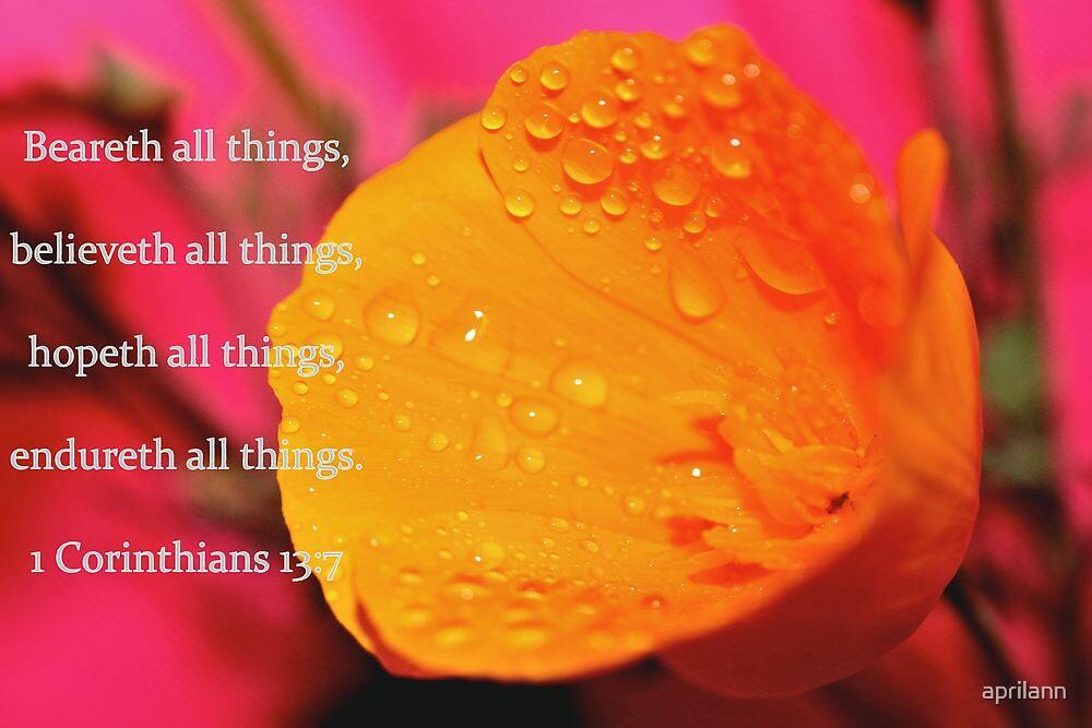 Believeth All Things by aprilann