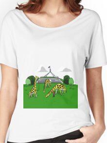 Giraffe Grazing Tee Women's Relaxed Fit T-Shirt