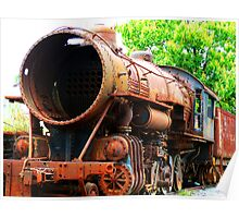 Rusted Steam Engine Poster