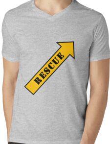 FIGHTER RESCUE Mens V-Neck T-Shirt