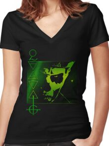 PAPA THE LIZARD KING Women's Fitted V-Neck T-Shirt