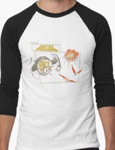 Tie Rex and the Rebeldactyls Men's Baseball ¾ T-Shirt