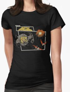 Tie Rex and the Rebeldactyls Womens Fitted T-Shirt