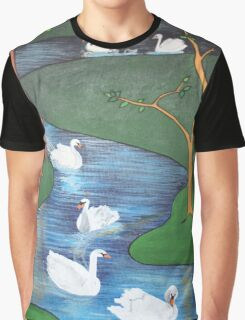A Flock of Seven Swans-A-Swimming ..... Graphic T-Shirt