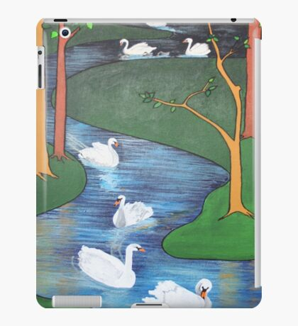 A Flock of Seven Swans-A-Swimming ..... iPad Case/Skin