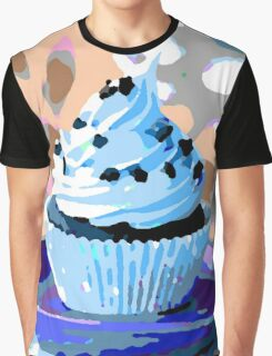 Chocolate Cupcakes with Blue Buttercream Graphic T-Shirt