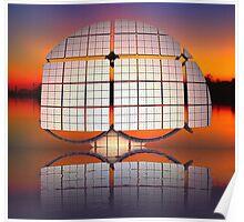 Solar Paneled Alien Watercraft Poster