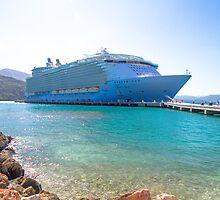 Oasis of the Seas docked by tazbert