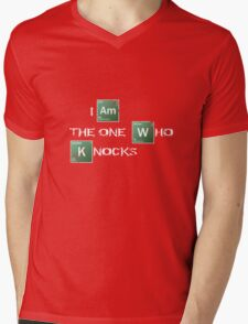 I am the one who knocks Mens V-Neck T-Shirt