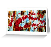 Abstract Tree Oil Painting #10 Greeting Card