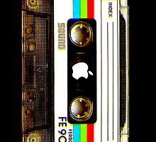 Red Green Blue Striped Cassette Tape by HighDesign