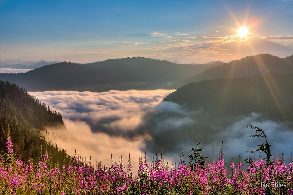 Sunrise over Beckler River Valley by Jim Stiles