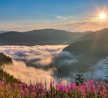 Sunrise over Beckler River Valley by Jim Stiles