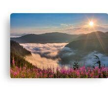 Sunrise over Beckler River Valley Canvas Print