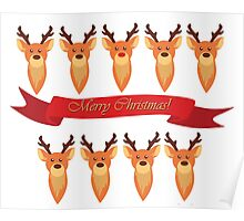 Rudolph and Santa's Reindeer Poster