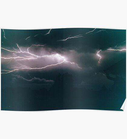 Lightning across the sky Poster